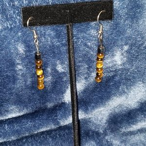 Tigers eye Bead Earrings